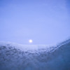 Moon over a snow drift, Norrbotten County, Lapland, Sweden