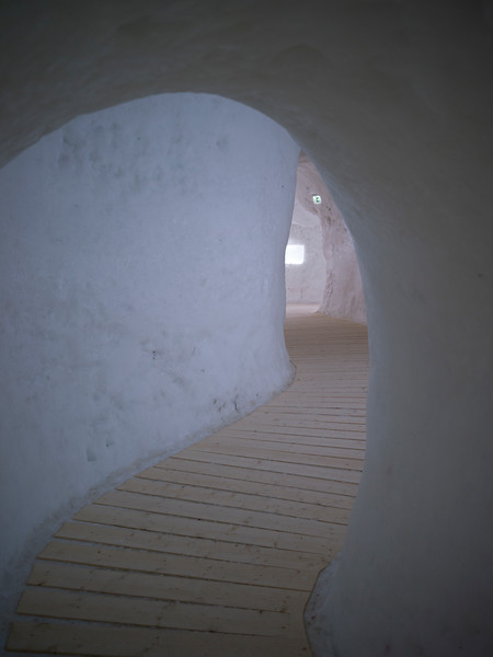 Boardwalk in Icehotel, Norrbotten County, Lapland, Sweden