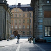 Man walking in street, Gamla Stan, Stockholm, Sweden