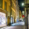 Street scene at night, Stockholm, Sweden