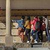 Tourists at a stadium, Ronda, Malaga, Andalusia, Spain