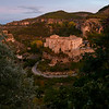 Elevated view of San Pablo Monastery on cliffs, Barrio De Tiradores, Cuenca, Cuenca Province, Castilla La Mancha, Spain