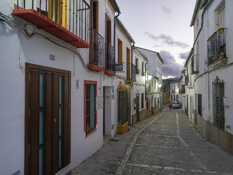 House along a street, Ronda, Malaga Province, Spain