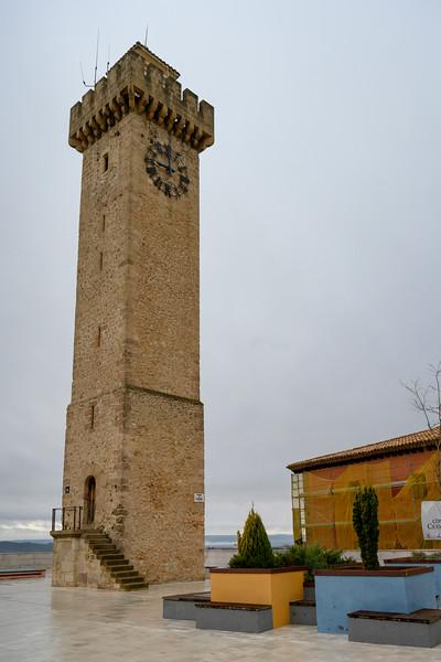 View of a tower, Mangana Tower, Cuenca, Cuenca Province, Castilla La Mancha, Spain