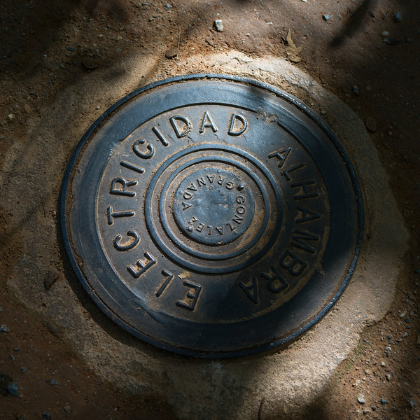 Manhole in Alhambra, Granada, Spain
