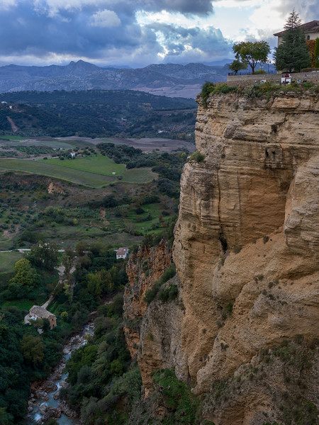 Elevated view of landscape, Ronda, Malaga Province, Spain