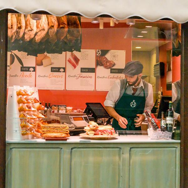 Delicatessen food store of Spanish town in C�rdoba, C�rdoba Province, Spain