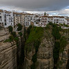 View of townscape atop of canyon cliff of Ronda, Malaga Province, Spain