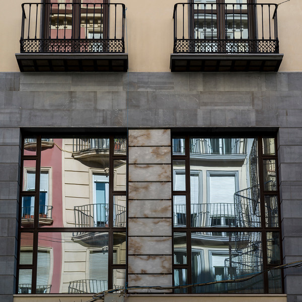 Low angle view of apartment, Granada, Granada Province, Spain