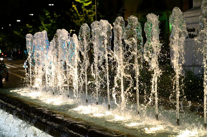 View of fountain, Albolote, Granada Province, Spain
