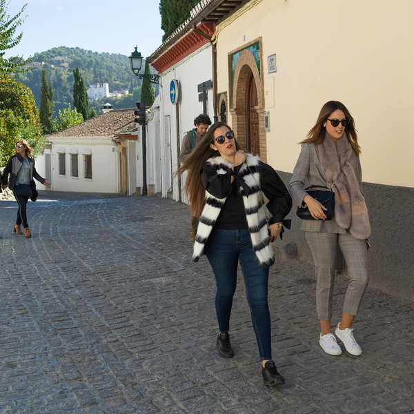 People walking on the street, Granada, Granada Province, Spain
