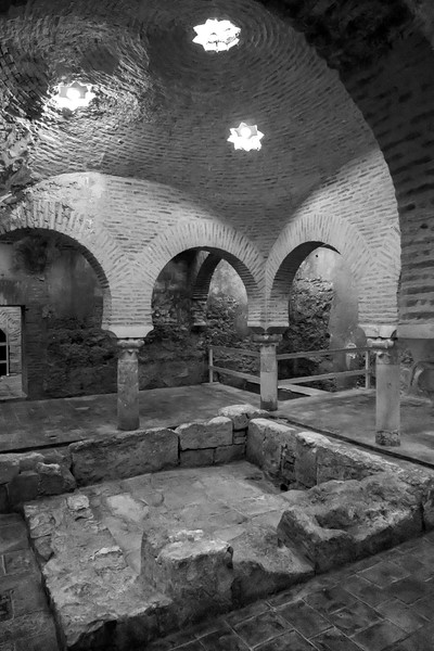 Ruins wall of Arab Baths at Ubeda, Jaen Province, Spain