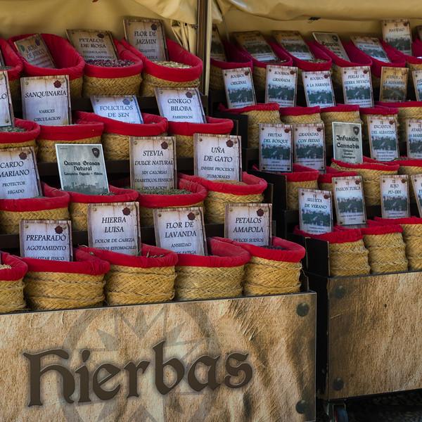 Food grain and spice market, Granada, Granada Province, Spain