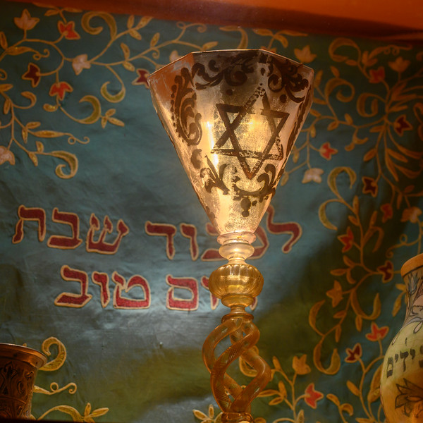 Illuminated Goblet in the Cordoba Synagogue, District Centro, C�rdoba, C�rdoba Province, Spain
