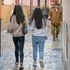 People walking on the street, San Bartolome, Seville, Seville Province, Spain