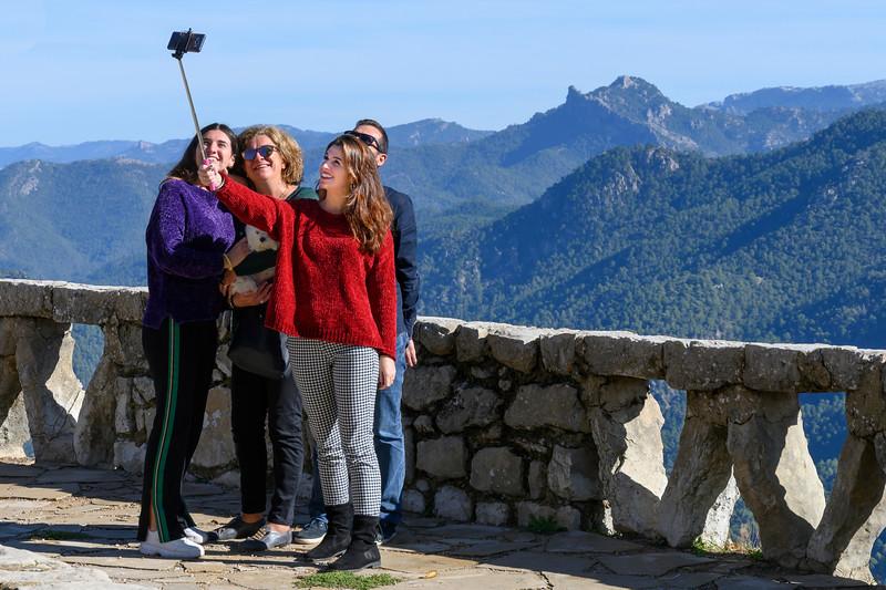 Family taking selfie, Cazorla, Jaen Province, Spain