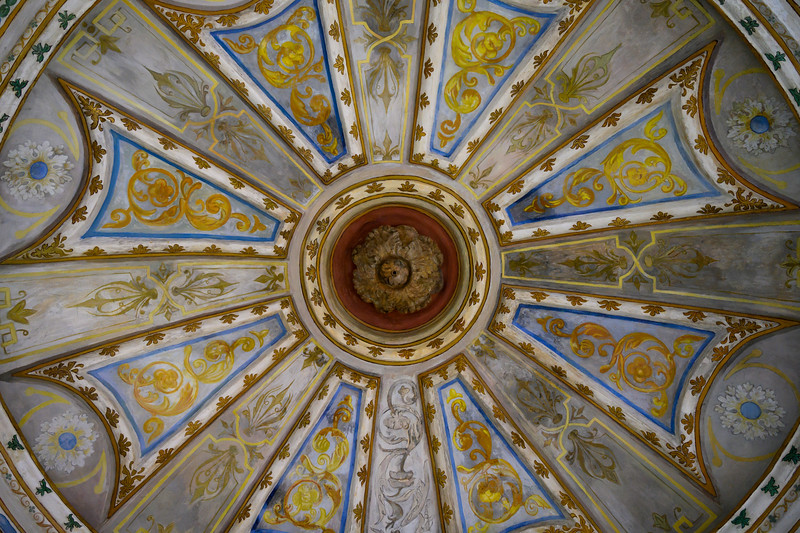 Low angle view of ceiling of a cathedral, Spain