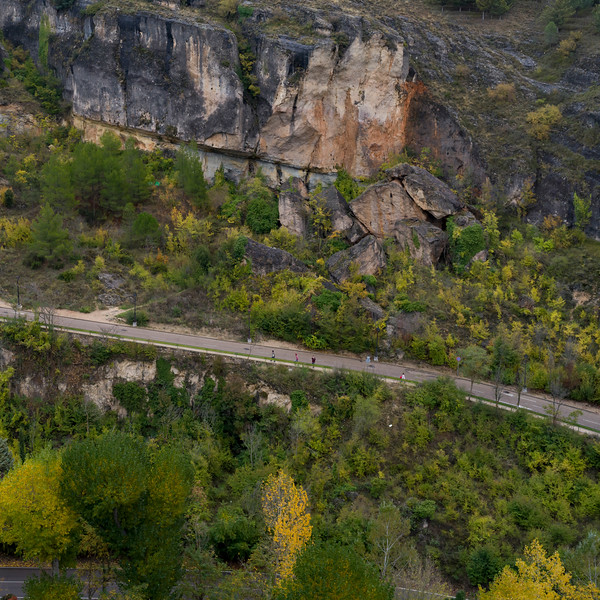 High angle view of roadway, Cuenca, Cuenca Province, Castilla La Mancha, Spain