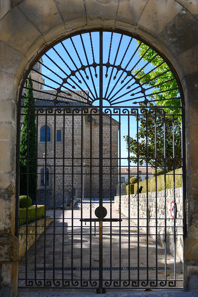 Closed gate of cathedral, �beda, Jaen Province, Spain