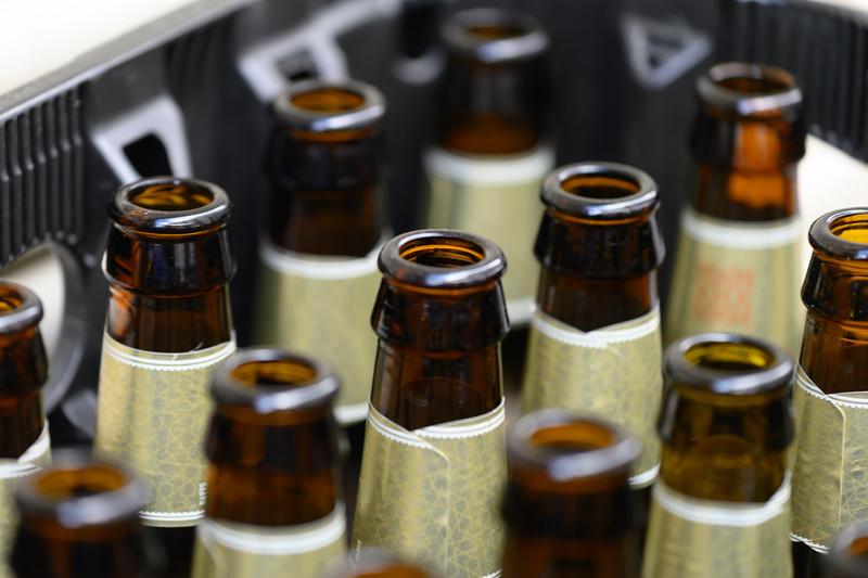 Close-up of empty bottles, Montefr�o, Granada, Spain