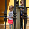 Children at Alcazar Palace, Plaza De Espana, Seville, Seville Province, Spain