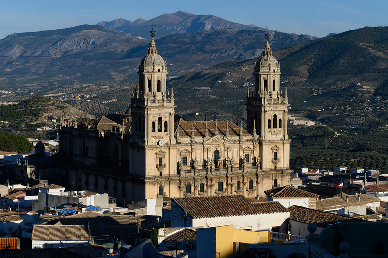 Jaen Cathedral and old town of Cadiz, Cadiz Province, Spain