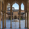 Courtyard of Nasrid Palaces, Alhambra, Granada, Spain