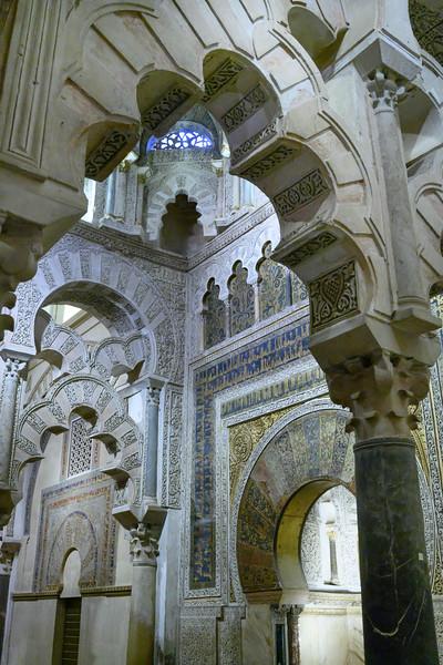 Interiors of Great Mosque of Cordoba, Cordoba, Cordoba Province, Andalusia, Spain