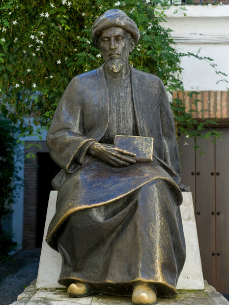 Statue of Maimonides in the Jewish Quarters, Distrito Centro, C�rdoba, C�rdoba Province, Spain