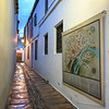 Narrow alley of the medieval synagogue in the old Juderia Quarters, C�rdoba Synagogue, Distrito Centro, Cordoba, Andalusia, Spain