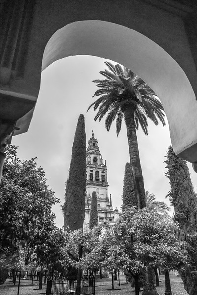 Bell tower of Great Mosque of Cordoba, Cordoba, Cordoba Province, Andalusia, Spain