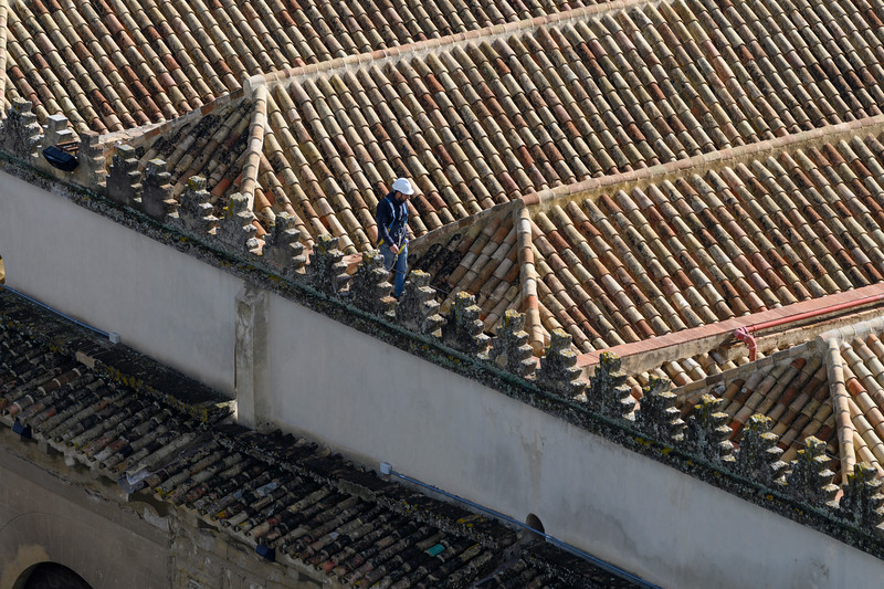 Architectural feature on the roof of a house, Spain