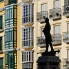 Statue of army soldier Vicente Moreno Baptista, Antequera, M�laga, Spain