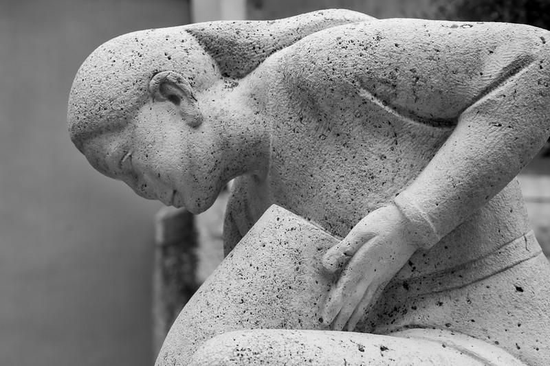 Profile view of female sculpture, Cuenca, Cuenca Province, Castilla La Mancha, Spain