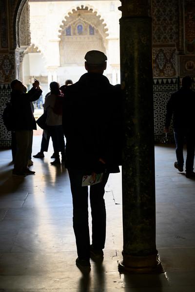 Tourists at Alcazar Palace, Plaza De Espana, Seville, Seville Province, Spain