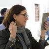 Woman holding a mirror, Granada, Granada Province, Spain