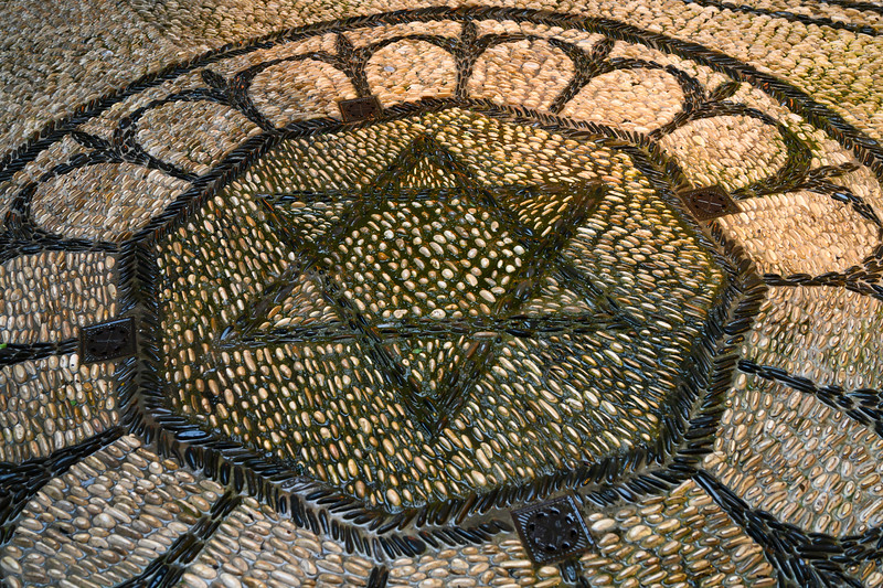 The Star of David mozaic on flooring in Cordoba Synagogue, District Centro, C�rdoba, C�rdoba Province, Spain