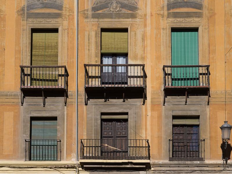 Balconies of apartment, Granada, Granada Province, Spain