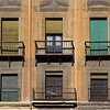 Balconies of apartment, Granada, Granada Province, Spain