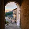 Narrow street, Cuenca, Cuenca Province, Castilla La Mancha, Spain