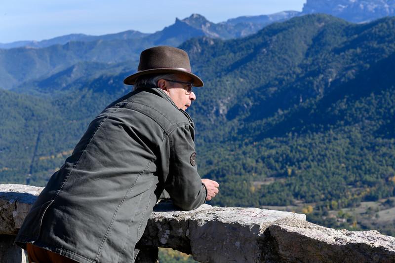 Senior man looking at view, Cazorla, Jaen Province, Spain