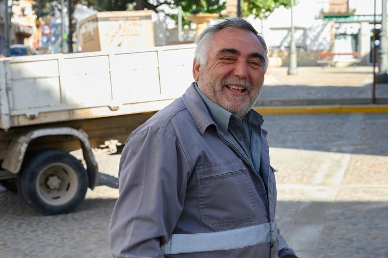 Portrait of a happy senior man around the town of Villarrobledo, Albacete, Castile-La Mancha, Spain