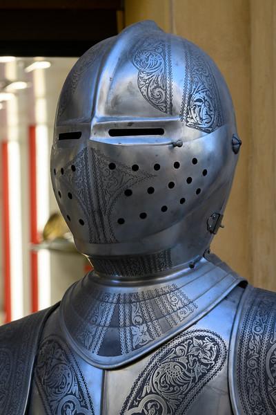 Antique armour suit in museum, Ronda, Malaga Province, Spain