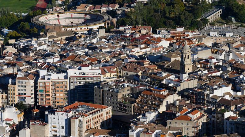 View of crowded city, Cadiz, Province of Cadiz, Spain
