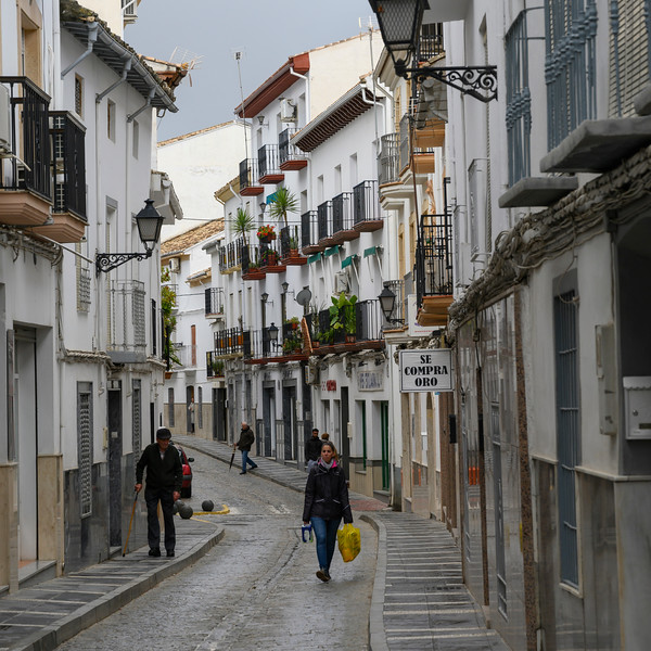 People walking on the street, Montefr�o, Granada, Granada Province, Spain