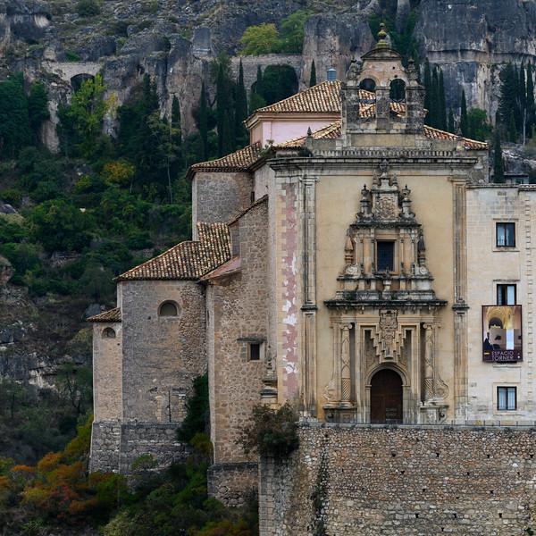 San Pablo Monastery on cliffs, Barrio De Tiradores, Cuenca, Cuenca Province, Castilla La Mancha, Spain