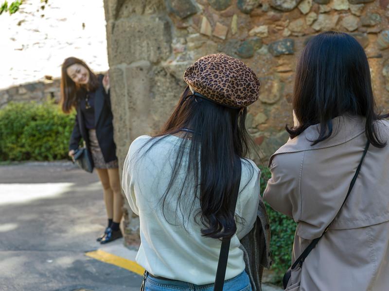 Tourists at Alhambra, Granada, Granada Province, Spain