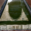 Reflection of palace on water, Plaza De Espana, Seville, Seville Province, Spain