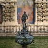 Mercury fountain at the Alcazar Palace, Plaza De Espana, Seville, Seville Province, Spain