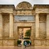 Facade of the Puerta Del Puente gate, Cordoba, Cordoba Province, Andalusia, Spain